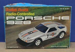 "Vtg Radio Shack 60-3041 Porsche 928 8.5 "" 1/20 R/C 27 Mhz VNM Boxed HK Tested"