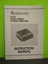 DELTASONIK Bridgeable 2-3-4-Channel Auto Power Amplifier Operation Manual D-360