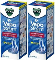 Vicks Vapo Steam for Hot Steam Humidifier Cough Suppressant 8oz ( 2 pack )
