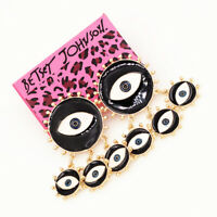 Women's Enamel Evil Eye Charm Earbob Stud Betsey Johnson Dangle Earrings Gift
