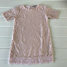Next Girls Age 6 years Dress Pink Lace Effect Shift Style Fully Lined Cute