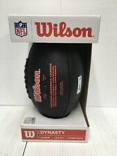 Wilson Dynasty Nfl Junior Composite Football Age 9+ Black New Free Shipping