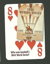 Baseball World Series 1944 St. Louis Cardinals vs Browns Neat Playing Card #4Y4