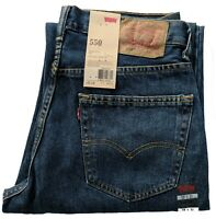 Levis 550 Jeans Men's Relaxed Fit Classic Tapered Leg Dark Stonewash Blue #0039