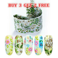 Nail Foils Mixed Flower Patterns Transfer Sticker Decal Nail Art Tips Decoration