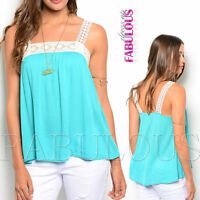 Sexy Women's Top Hot Casual Party Shirt Crochet Blouse Size 6 8 10 12 XS S M L