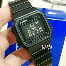 New Casio Vintage FULL BLACK Digital Stainless Steel Watch B650WB-1B B650WB-1B