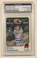 1973 Topps NOLAN RYAN Signed Autographed Baseball Card PSA/DNA #220 383 Ks