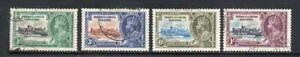 TURKS & CAICOS USED 1935 SG187-190 KGV SILVER JUBILEE