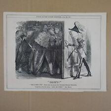 "7x10"" punch cartoon 1871 DOOM`D army bill"