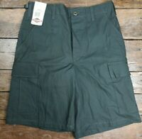 TRU-SPEC BDU Cotton Cargo Shorts Button Fly Army OD Green Ripstop Small Defect