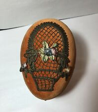 Rare Antique Velvet Easter Egg Candy container