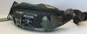 True Religion Camo Waist Pouch Fanny Pack Crossbody Belt Bag