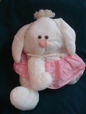RARE 1980's Vintage Fisher Price PUFFALUMP WHITE RABBIT w/Pink Dress