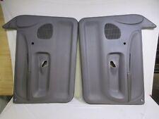94-97 Dodge Ram door panel set L&R GREY crank windows manual locks