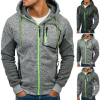 New Men's Outwear Sweater Winter Hoodie Warm Coats Jacket Slim Hooded Sweatshirt