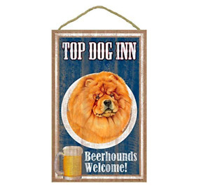 Wood sign Chow Chow, Top Dog Inn 10 x 16 Wood Plaque, Sign Wall Decor