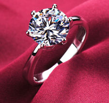 size 5.5 925 Silver Gold Filled white sapphire 5ct wedding engagement Ring  2177