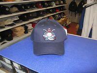 MiLB-LAKEWOOD BLUE CLAWS-DARK BLUE CAP WITH LOGO ON FRONT-HOOK & LOOP ADJUSTABLE