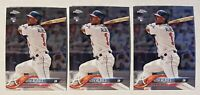 Lot (3) 2018 Topps Chrome Update #HMT27 Ozzie Albies - Braves. Rookie Card.