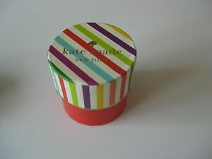 designer Kate Spade New York NY Ring Gift Box live colorfully collectible round