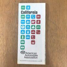Vintage 1975 AAA California Road Map