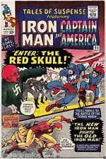 TALES of SUSPENSE #65 IRON MAN CAPTAIN AMERICA 1st Silver Red Skull 9.0