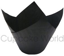 25PC BLACK JUMBO TEXAS CAFE STYLE PAPER MUFFIN CUPCAKE WRAPS CUPS CASES LINERS