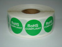 """500 1"""" Round ROHS Compliant  Regulated D.O.T Labels"""
