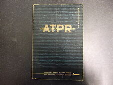 Airline Transport Pilot Rating Pb Book 9Th Revised Edition 1958 *Uk Post £3.25 *