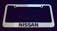 NISSAN LICENSE PLATE FRAME CUSTOM MADE OF CHROME (Zinc Metal)