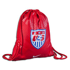 Nike United States Usa World Cup 2014 Soccer Shoe Sack Gym Pack Fitness Bag Red