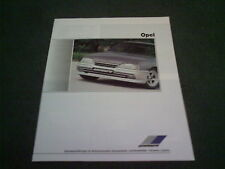 1988 ZENDER OPEL VAUXHALL 20 PAGE BROCHURE Corsa Nova Astra Manta Omega Ascona