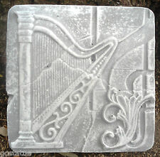 Harp tuscan tile plastic mold plaster concrete mould