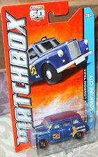2013 Matchbox 60th Anniversary #68-120 Blue Austin FX London Taxi MBX 1:64
