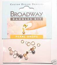 4 Piercings bijoux déco Ongle boules Perles OR ARGENT Nail Art Broadway by kiss