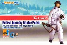 "Dragon Models WWII 1/6 scale 12"" British Infantry Winter Patrol Fred Jones 70702"