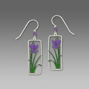 Sienna Sky Earrings Sterling Silver Hook Beautiful Purple Iris Handmade in USA