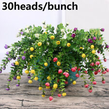 DIY Craft Small Bud Rose Wedding Decoration Artificial Flowers Bridal Bouquet