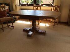 Esstisch mit 6 Stühlen aus massiver Eiche natur