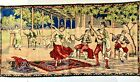 VINTAGE TAPESTRY Spanish Flamenco Dancer Mariachi Rug Tapestry Wall Hanging Art