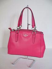NEW Coach Mini Christie Pink Leather Satchel Shoulder Handbag 57265