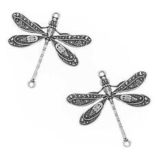 Antiqued Silver Plated Dragonfly Connector Links 24mm/2