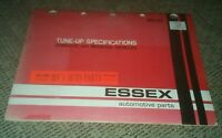 "1963-1974 ESSEX Domestic Car & IMPORTS TUNE-UP ""Specification"" CHART or Catalog"