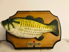 """Big Mouth Billy Bass 1999 Singing Fish Display: """"Take Me to The River"""" & """"Don't"""
