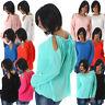 Damen Bluse Shirt Tunika Babydoll Ripp-Optik Langarm 34 36 38 S M