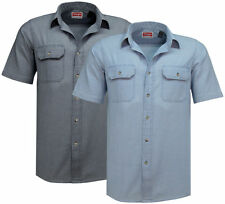 Wrangler Men's No Pattern Cotton Collared Casual Shirts & Tops