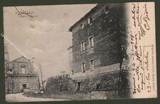 Piemonte. MORETTA, Cuneo. Chiesa e Castello. Cartolina viaggiata nel 1908