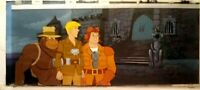 FILMATION REAL GHOSTBUSTERS KEY PAN PRODUCTION BACKGROUND SETUP, MATTED, w/COA