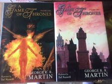 4 GAME OF THRONES MATCHING NUMBER SIGNED & LIMITED HARDCOVERS GEORGE R R MARTIN